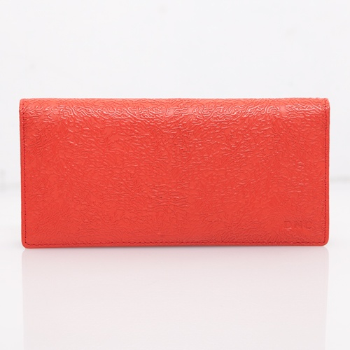 Orange Embossed Long Wallet - DNC - IDR 140.000