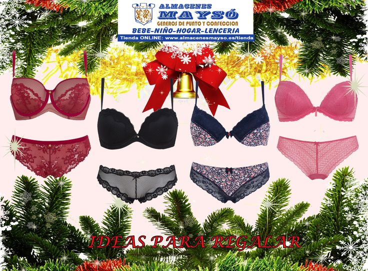 IDEAS PARA #REGALAR! #Navidad con encanto, con estos #conjuntos de lenceria para #ella, seguro que aciertas con este #regalo. #tiendaonline : www.almacenesmayso.es/tienda #shoponline #textilhogar #ropabebé #complementosbebé #lenceria #ropamujer #ropahombre #ropaniños #ropaniña #regalosnavidad #regalosoriginales