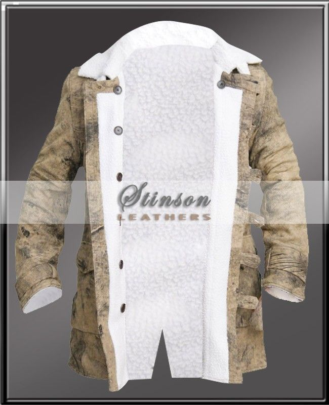 Mens white leather jacket sale