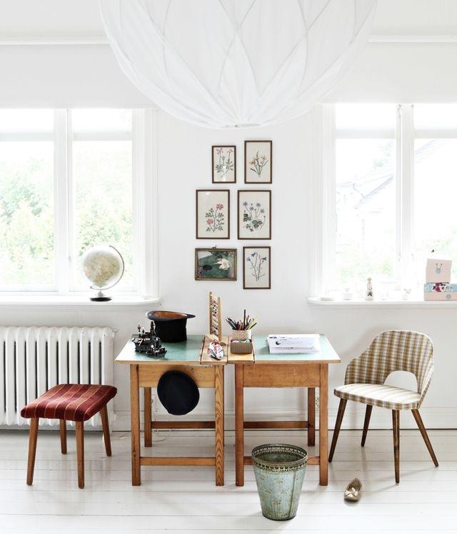 Twin desks