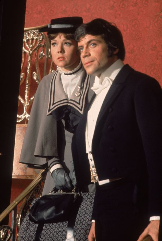 Fun and silliness, Oliver Reed and Diana Rigg, The Assassination Bureau, 1969