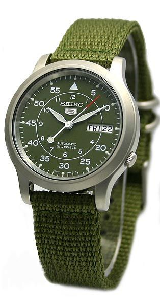 Seiko 5 (Seiko Five) Men' s Military Automatic Watch # SNK805 SNK805K2 # SNK805K2