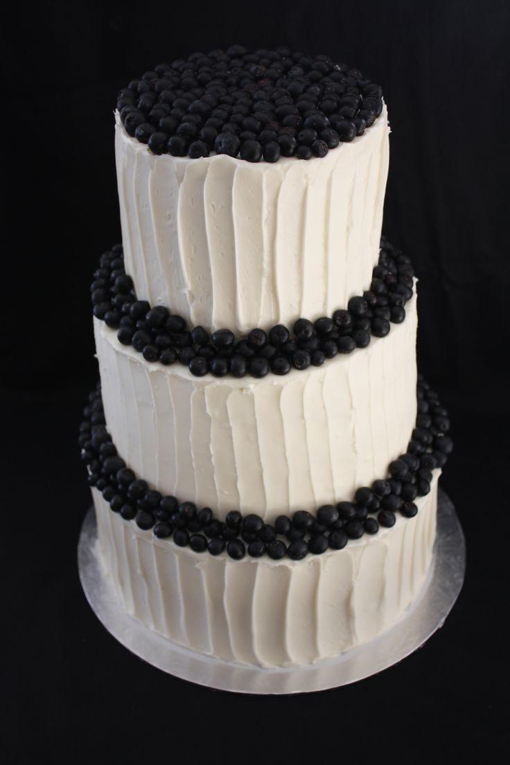 Fresh Blueberry Wedding Cake