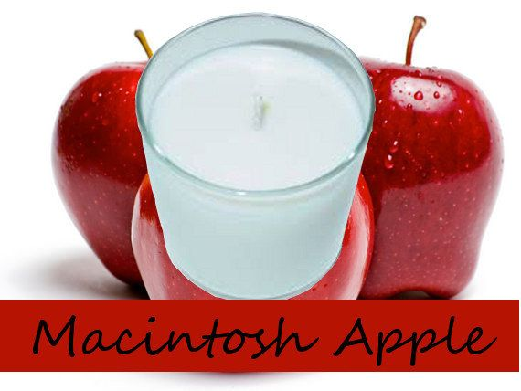 Macintosh Apple Scented Candle in Tumbler 13 oz by AmbersAromasAndGifts. Macintosh Apple - The pleasing aroma of freshly picked, red, juicy macintosh apples.