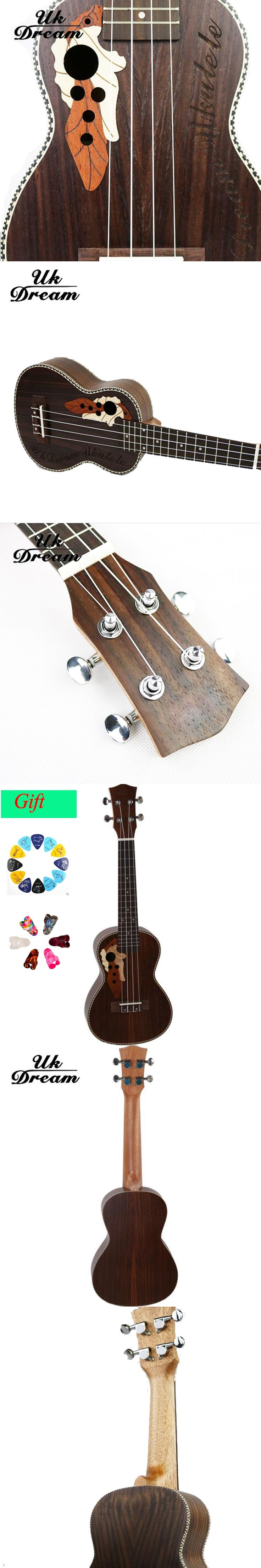acoustic guitar 21 inch Ukulele 4 Strings Musical Instruments 15 Frets Pruce Sapele Chipping Knob
