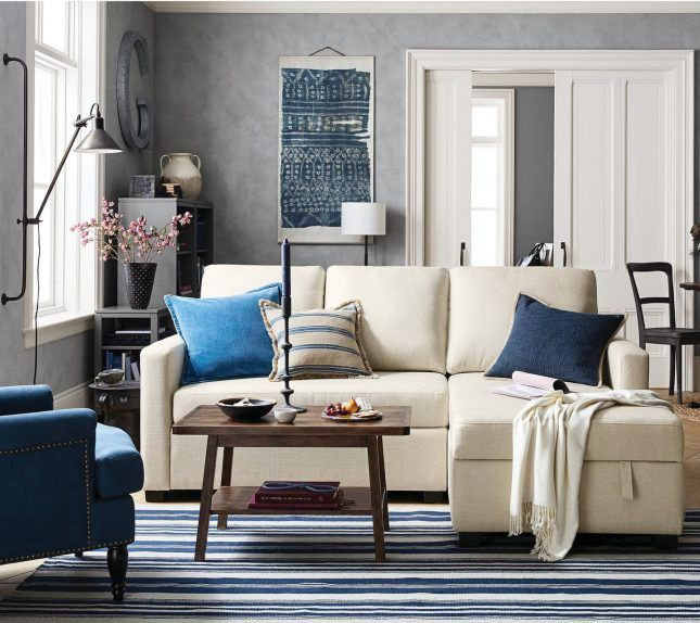 Pottery Barn S New Small Space Furniture Collection Is Perfect For Your Teeny Tiny Apartment