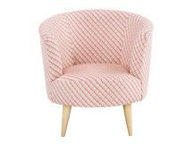 Lulu Scoop Chair, Neutral and Raspberry