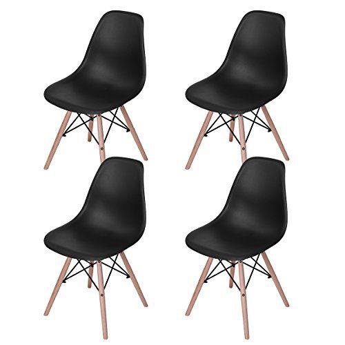 FYI Lot de 4 chaises design tendance rétro eiffel bois chaise de