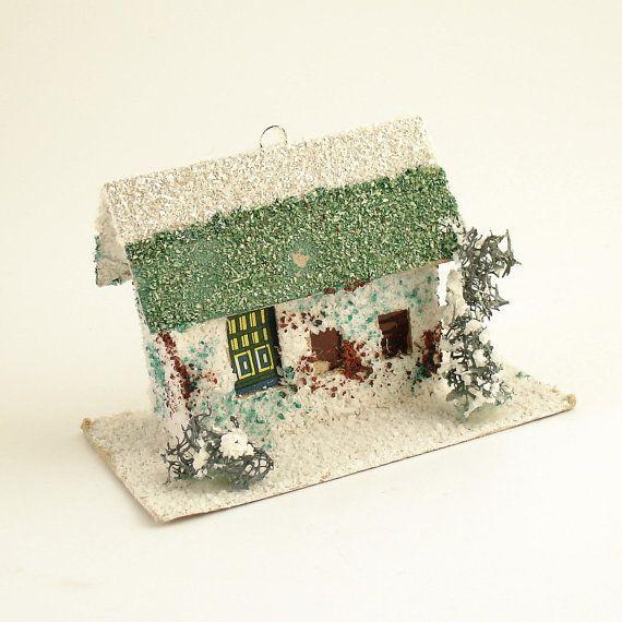 59 best images about vintage christmas putz houses on. Black Bedroom Furniture Sets. Home Design Ideas