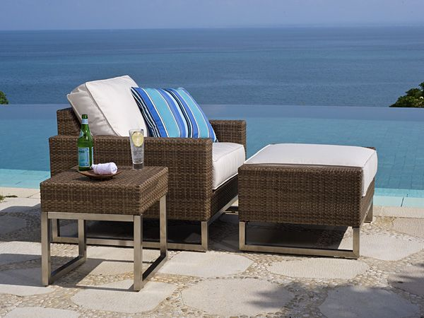 baker 4piece outdoor lounge seating set from the palms collection