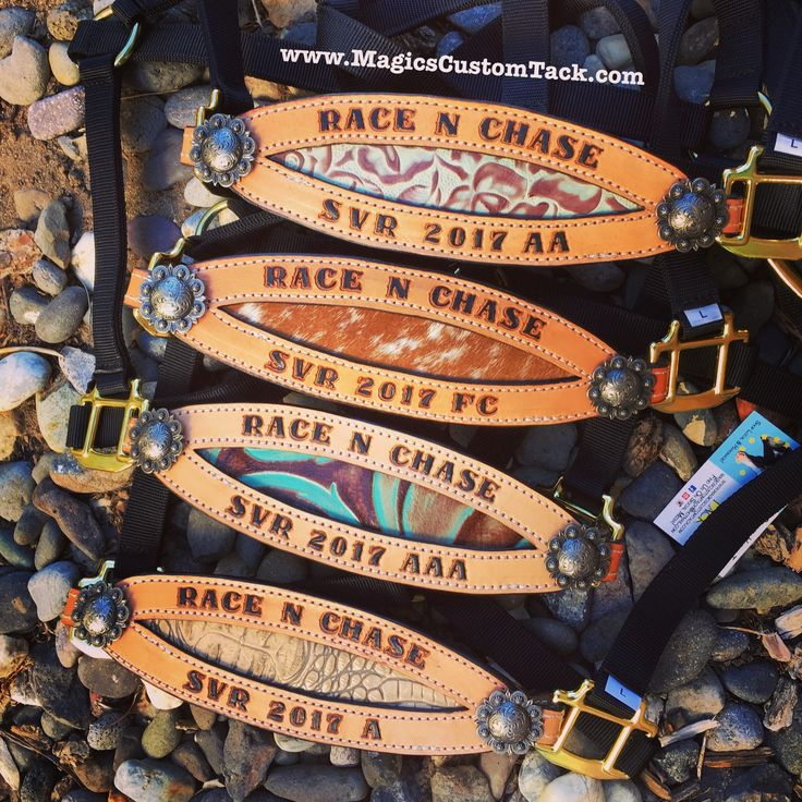 Magics Custom Tack Fun award halters with turquoise, croc, floral and cowhide Inlay Www.magicscustomtack.com