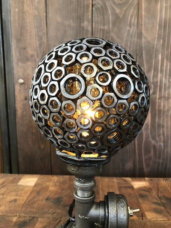 Industrial Lamp/ Industrial Decor/ Steampunk Lamp/ Industrial Table Lamp/ Lamp/ Valentines Gift/ Unique Gifts