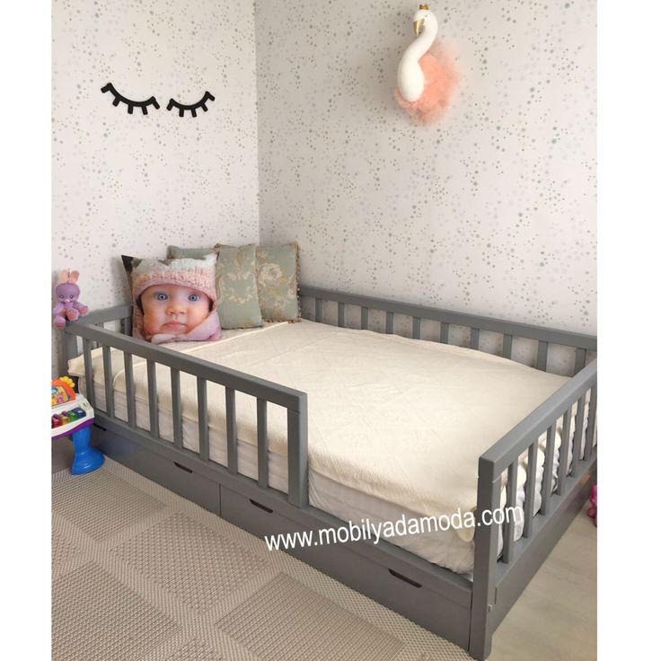 izmir bebek odası|izmir çocuk odası|mobilyadamoda|bebek odası|çoçuk odası|beşik izmir|ranza,izmir,yer yatağı,montessori yatağı,çocuk odası,montessori yer yatağı, kişiye özel tasarım, özel tasarım mobilya, özel üretim mobilya, izmir çocuk odası, genç odası,Montessori, ~ Çatısız Çekmeceli Montessori Yatağı 120x190