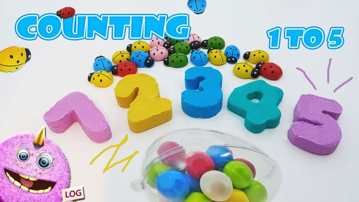 Learn to count make  numbers | kineticsand | forkids