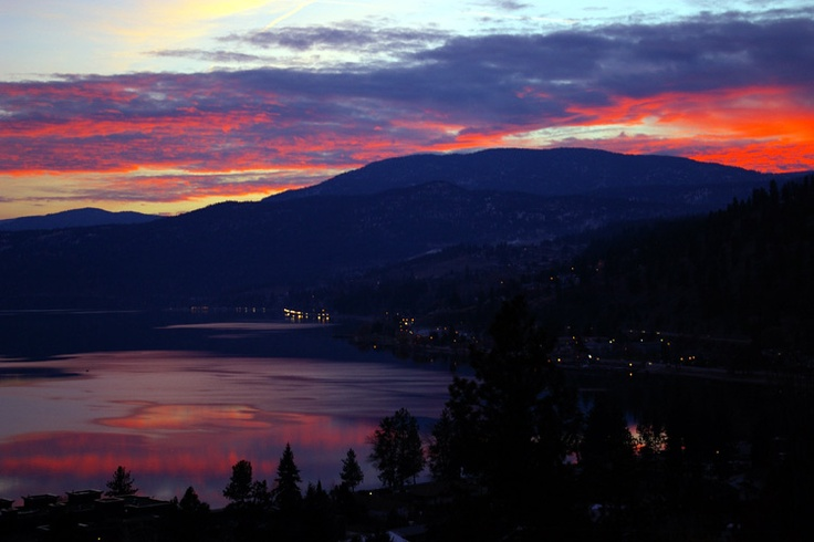 Sunset over Peachland