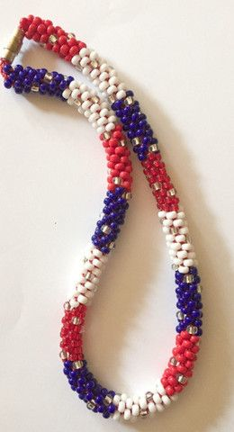 6/0 Painting with Beads Necklace Kit - 4th of July