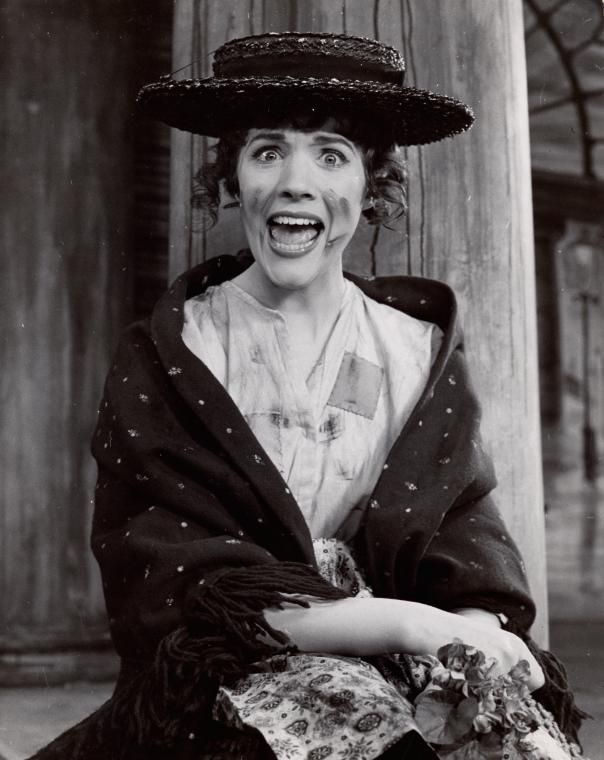 Julie Andrews in My Fair Lady . My Fair Lady opened on Broadway March 15th 1956.