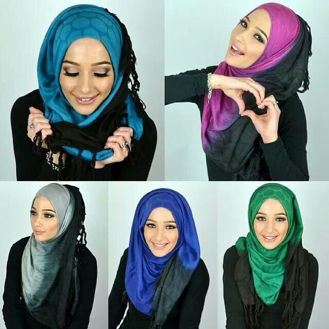 Ombre pashminas Hijabista
