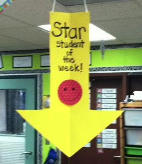Star Student of the Week (hang above student's desk) I'm not a teacher, but if I were....I'd definitely use this in my classroom!