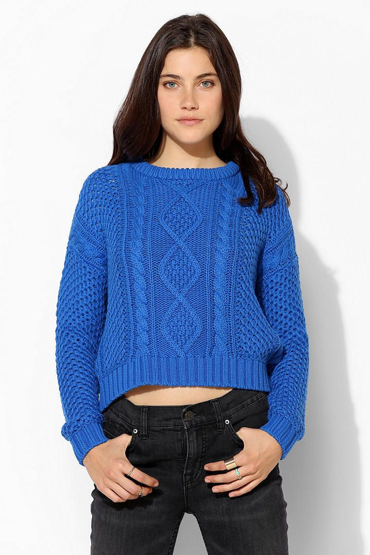 короткие свитера спицами фото