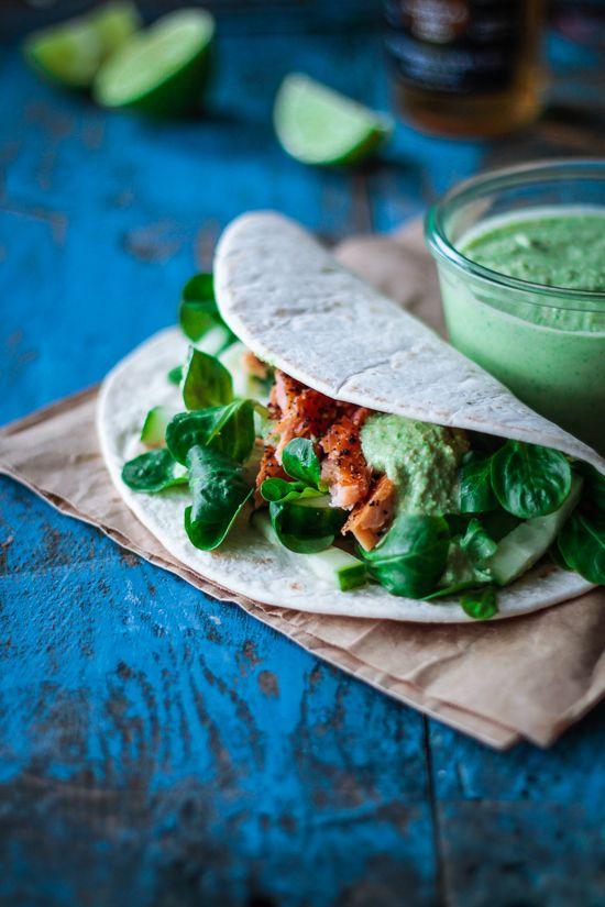 Salmon and Pea Hummus Tortilla Recipe