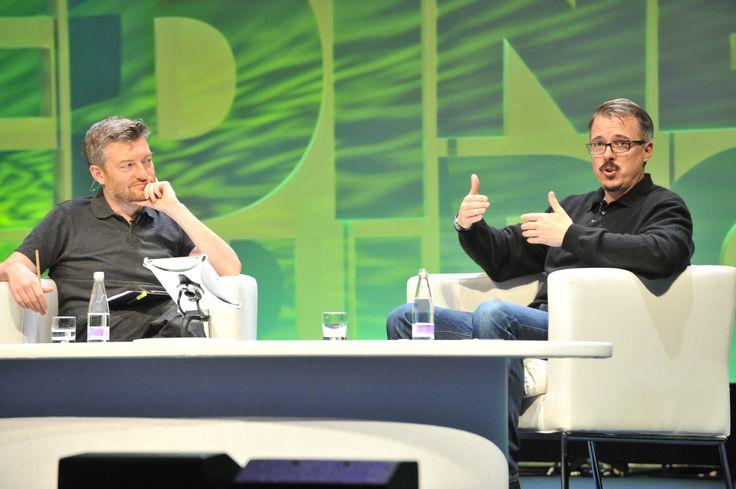 Charlie Brooker and Vince Gilligan