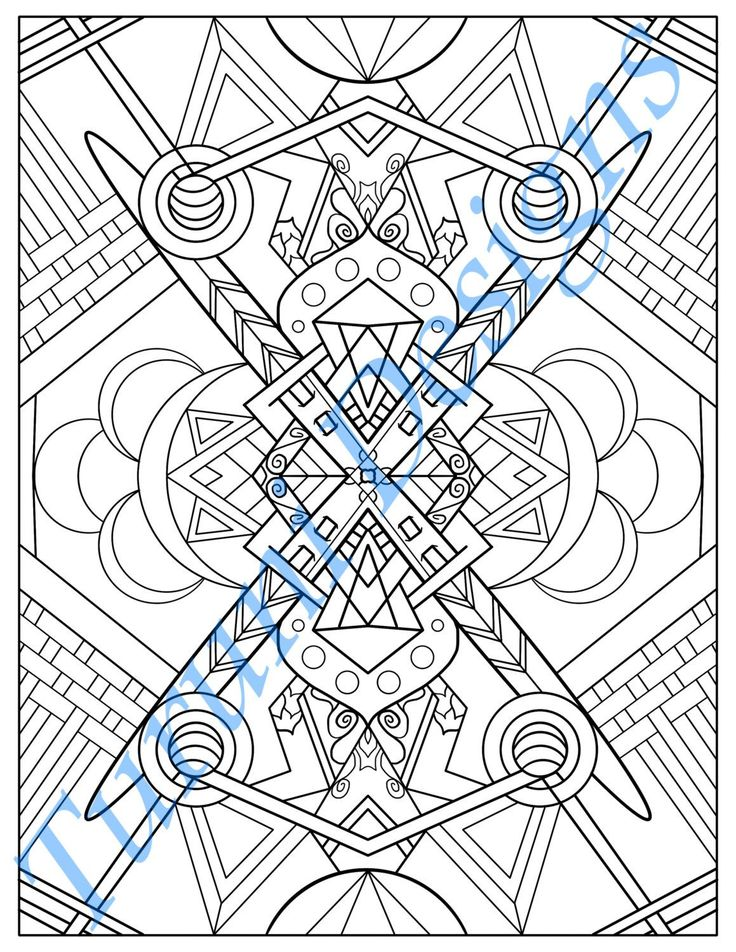 Tribal Inspired Printable Adult Coloring Page by ...