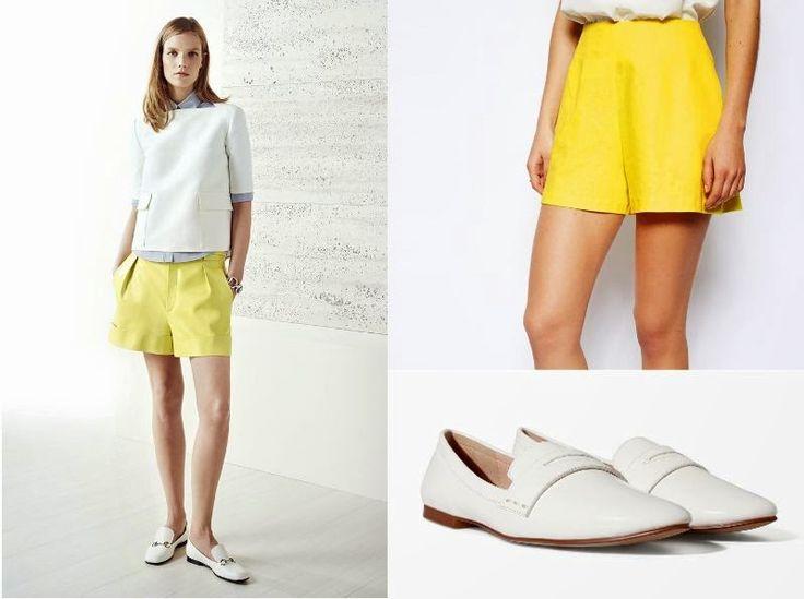 Bermuda amarilla de Asos y slippers de Zara  #Gucci #inspiration http://cuchurutu.blogspot.com.es/2014/06/gucci-inspiration.html