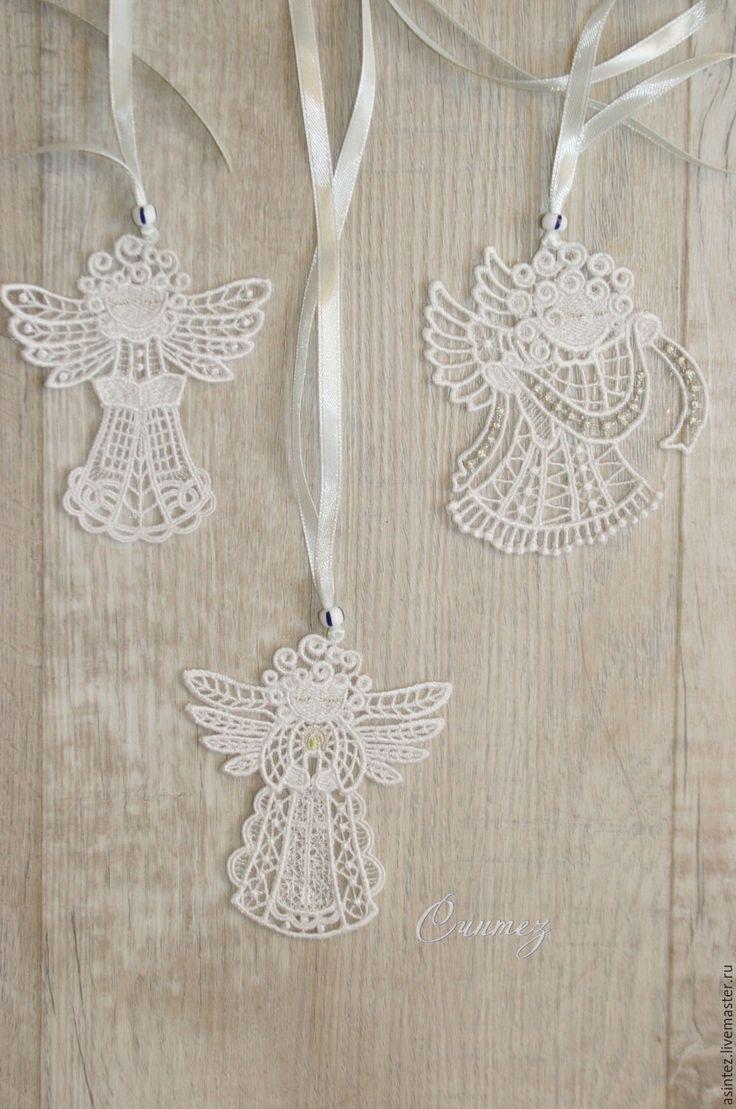 Купить Ангел на счастье вышитая подвеска сувенир - ангел вышитый, на счастье, ангелочки в подарок