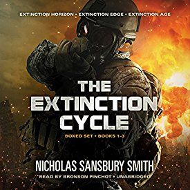 "Another must-listen from my #AudibleApp: ""The Extinction Cycle Boxed Set: Extinction Horizon, Extinction Edge, and Extinction Age (The Extinction Cycle, Books 1 - 3)"" by Nicholas Sansbury Smith, narrated by Bronson Pinchot."