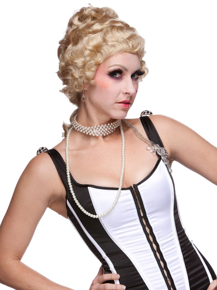 Take a trip back to the 16th century with this #Colonial Lady #wig. Pretend you're an aristocrat and hold your pinky out while you drink! You can also order this up with the Colonial Man wig for a matching his and her set.