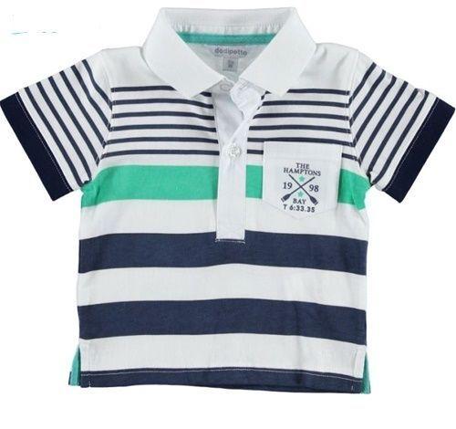 T-shirt polo Dodipetto neonato 12 mesi in cotone mezza manica