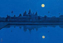 Moon at Angkor Wat