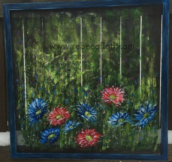 Recycle old window screen hand painting wild by for Where to recycle old windows