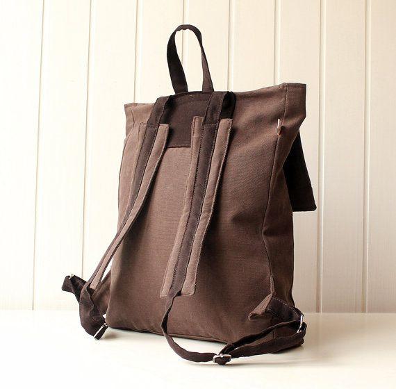 Mochila / morral del ordenador portátil marrón y oscuro marrón / Unisex bolso hombres bolso / bolso del ordenador portátil / pañal bolso / viaje viaje, bolso Weekender, grande