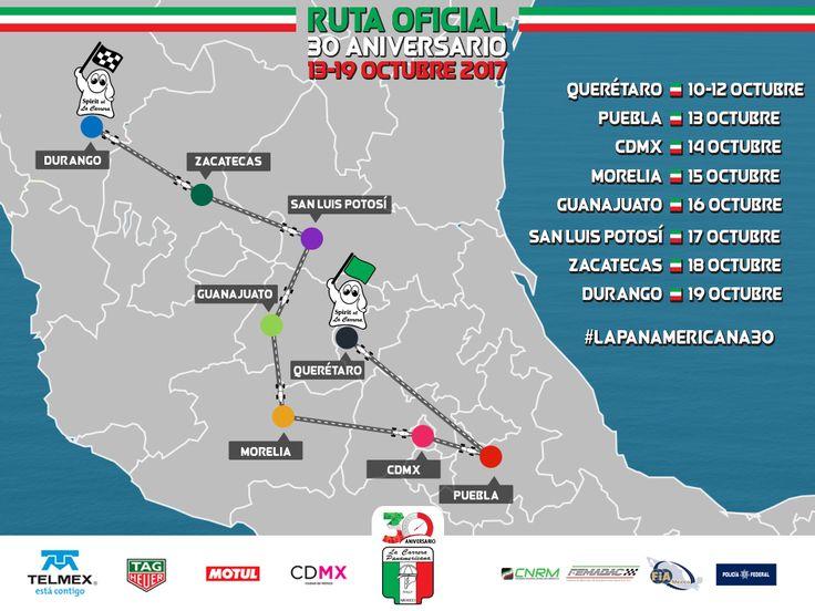 RUTA OFICIAL 30 Aniversario – Carrera Panamericana
