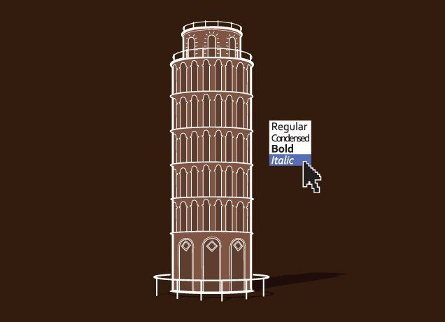 Italic towerDe Pisa, Towers, Funny, Fonts Style, Graphics Design, Italic, Typography, T Shirts, Design Blog