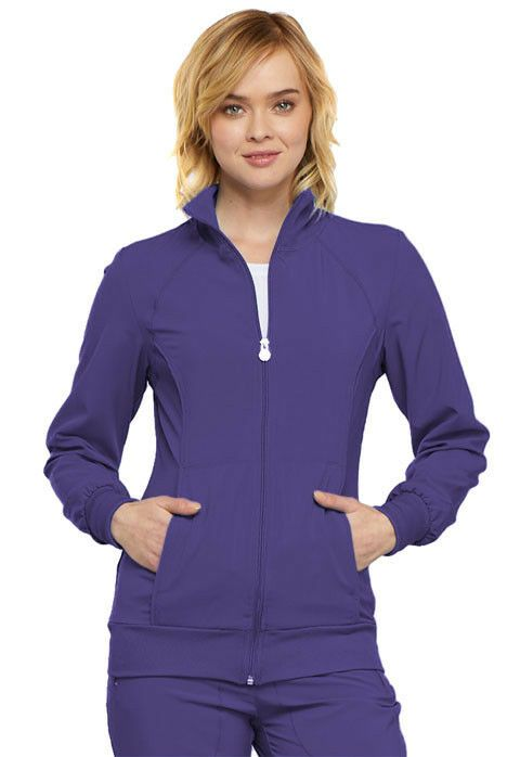 9f2ff145846 eBay #Sponsored Scrubs Cherokee Infinity Zip Front Jacket 2391A Grape FREE  SHIPPING