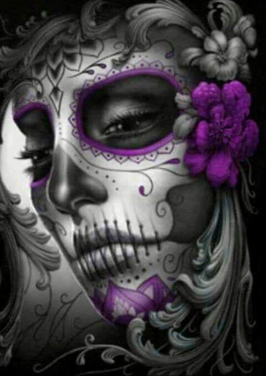 Sugar skull, Skulls and Sugar skull tattoos on Pinterest