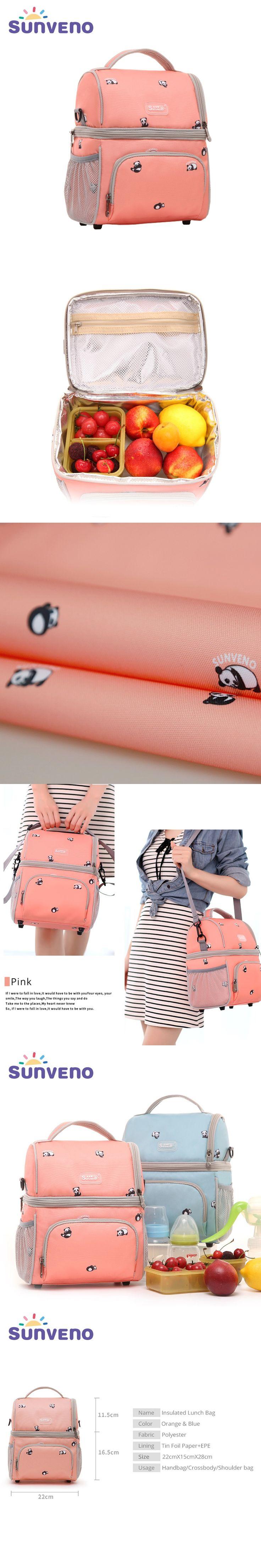SUNVENO New Fashion Bottle Bag Keep Fresh Insulation Bag Skip Zoo Panda Pattern Thermal Bag for Bottles Baby Bottle Holder