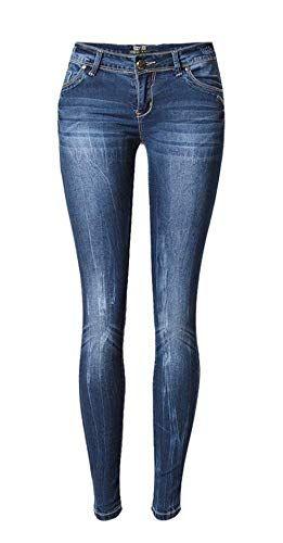 354c9e4633c4c Pantalones Vaqueros De Cintura Baja De Las Pantalones Mujeres Bastante Butt  Lift Skinny Denim Pencil Pantalones