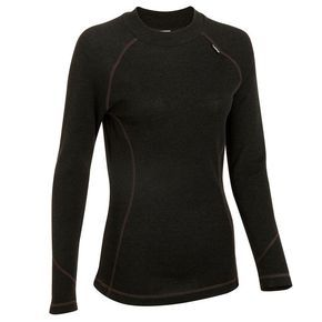 CAMISETA INTERIOR TERMICA MUJER SIMPLE WARM NEGRA - WED'ZE