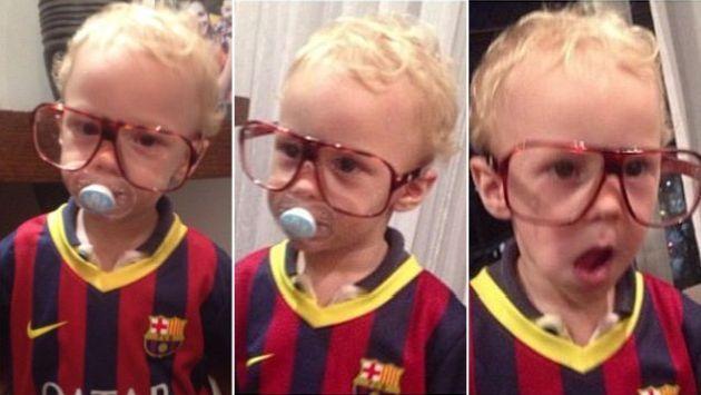 El hijo de #Neymar ya usa la camiseta del #Barcelona