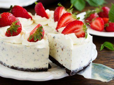 Receta de Cheesecake de Oreo Frío