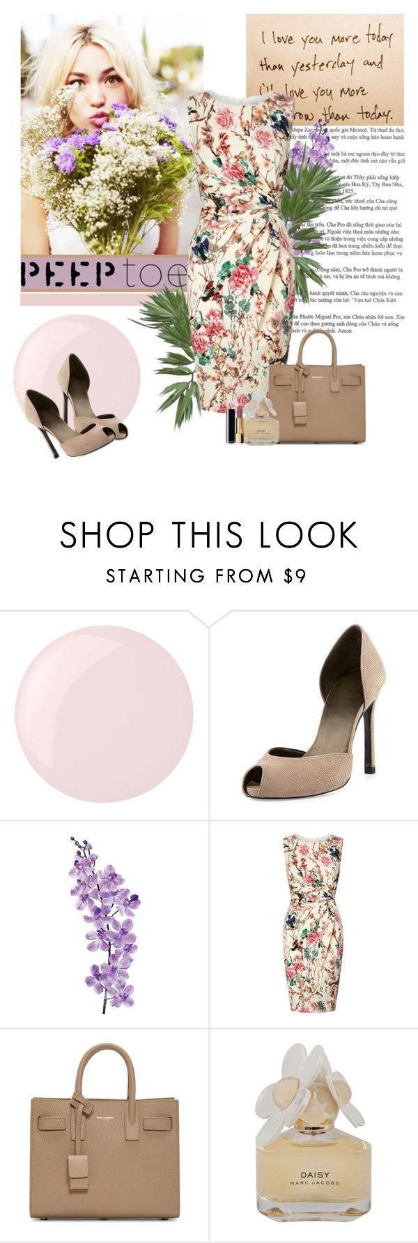 """The Shoes"" by polybaby ❤ liked on Polyvore featuring Essie, Stuart Weitzman, Laura Cole, Lipsy, Yves Saint Laurent, Marc by Marc Jacobs, Chanel, peeptoe and polyvoreeditorial"