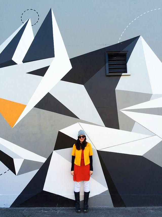 geometric mural