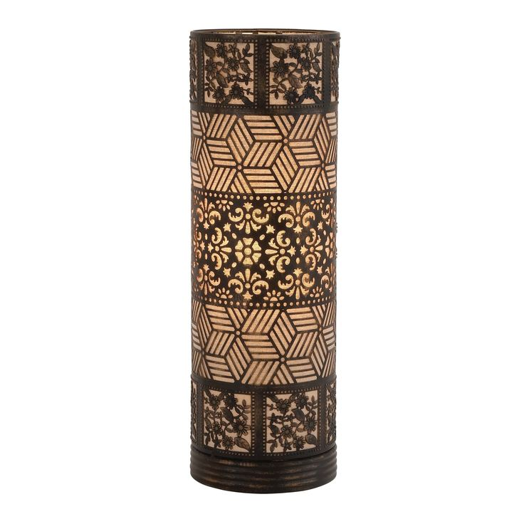 Well Designed Styled Metal Cylinder Table Lamp (Table Lamp), Silver