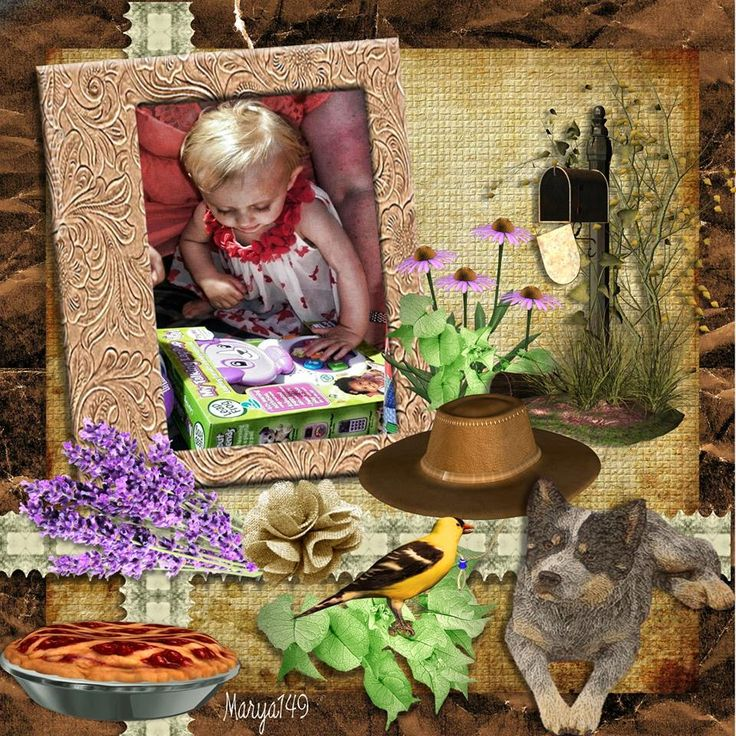 Yvonne Fergusson's grand child Day In The Country TBAB My Country Dad Oklahomadawn; made by me marya149