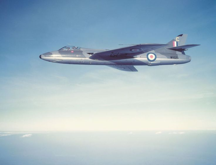 Hawker Hunter: the design and development of Hawker's classic jet fighter. F.Mk.4 WV325 photographed almost certainly in late summer 1955 when it was flying as 'C' with the Central Flying School. (Mike Stroud)
