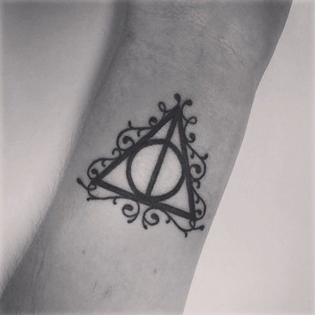 I love my Harry Potter tattoo! ⚡️❤️ #tattoo #harrypotter #harrypottertattoo #deathlyhallows #deathlyhallowstattoo #firsttattoo #wristtattoo